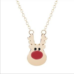 Jewelry - Red nose reindeer necklace